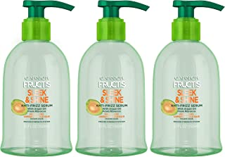 Garnier Fructis Sleek & Shine Anti-Frizz Serum for Frizzy, Dry, Unmanageable Hair, 5.1 Ounce (3 Count)