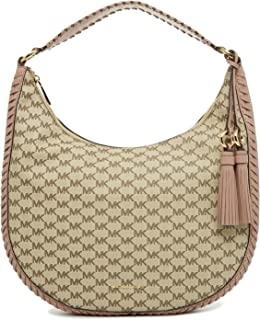 c330edeb6896 MICHAEL Michael Kors Womens Lauryn Hobo Tote Shoulder Handbag Beige Large