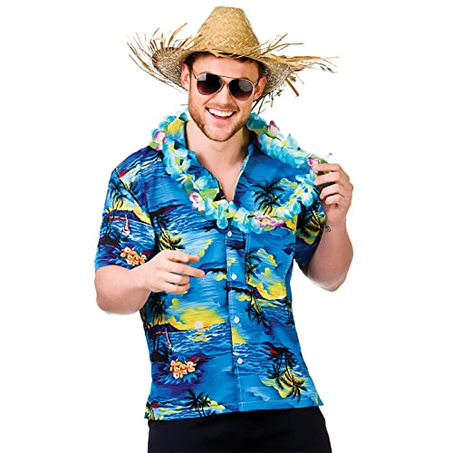 39456f313879 Mens Hawaiian Fancy Dress Shirt Beach Luau Aloha Summer Party Floral / Palm  Tree