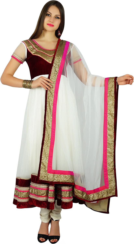 Atasi Womens Flaired Anarkali Salwaar Kurta Suit with Dupatta Readymade Dress