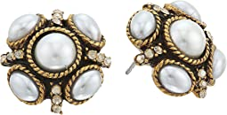 Oscar de la Renta - Classic Button P Earrings