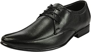 Heels & Shoes Men's Natural Leather Lace up Textured Derby Shoes