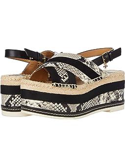 토리버치 에스파드류 샌들 Tory Burch Grosgrain 80 mm Platform Espadrille Sandal,Warm Roccia/Perfect Black/Perfect Black