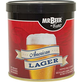 Mr. Beer American Lager Beer Refill Kit, 2 Gallons