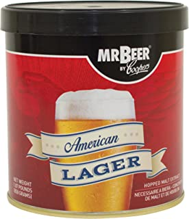Mr. Beer 60951 American Lager Beer Refill Kit, 2 Gallons