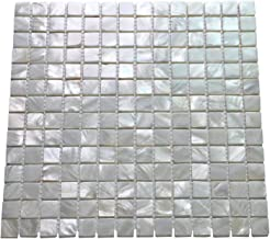 Art3d 10-Pack Oyster Mother of Pearl Square Shell Mosaic for Kitchen Backsplashes, Bathroom Walls, Spa Tile, Pool Tile