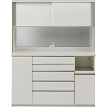 パモウナ 食器棚KG パールホワイト 幅160×高さ203×奥行50 日本製 KGR-1600R