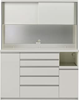 パモウナ 食器棚KG パールホワイト 幅160×高さ203×奥行45 日本製 KGR-S1600R