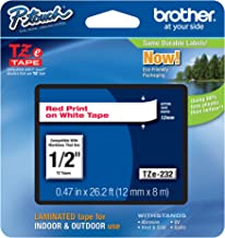 Brother Genuine P-Touch TZE-232 Tape, 1/2