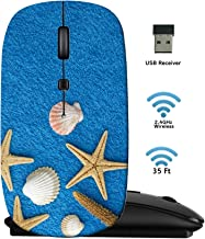 MSD Wireless Mouse 2.4G Travel Mice with USB Receiver, Noiseless and Silent Click with 1000 DPI for Notebook PC Laptop Computer MacBook Black Base sea Stars Background Image ID 39582478