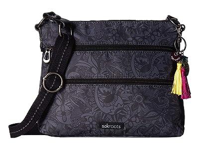 Sakroots Artist Circle Basic Crossbody (Black Spirit Desert) Cross Body Handbags