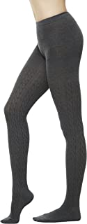 Women's Winter Cotton Cable Knit Sweater Footed Tights