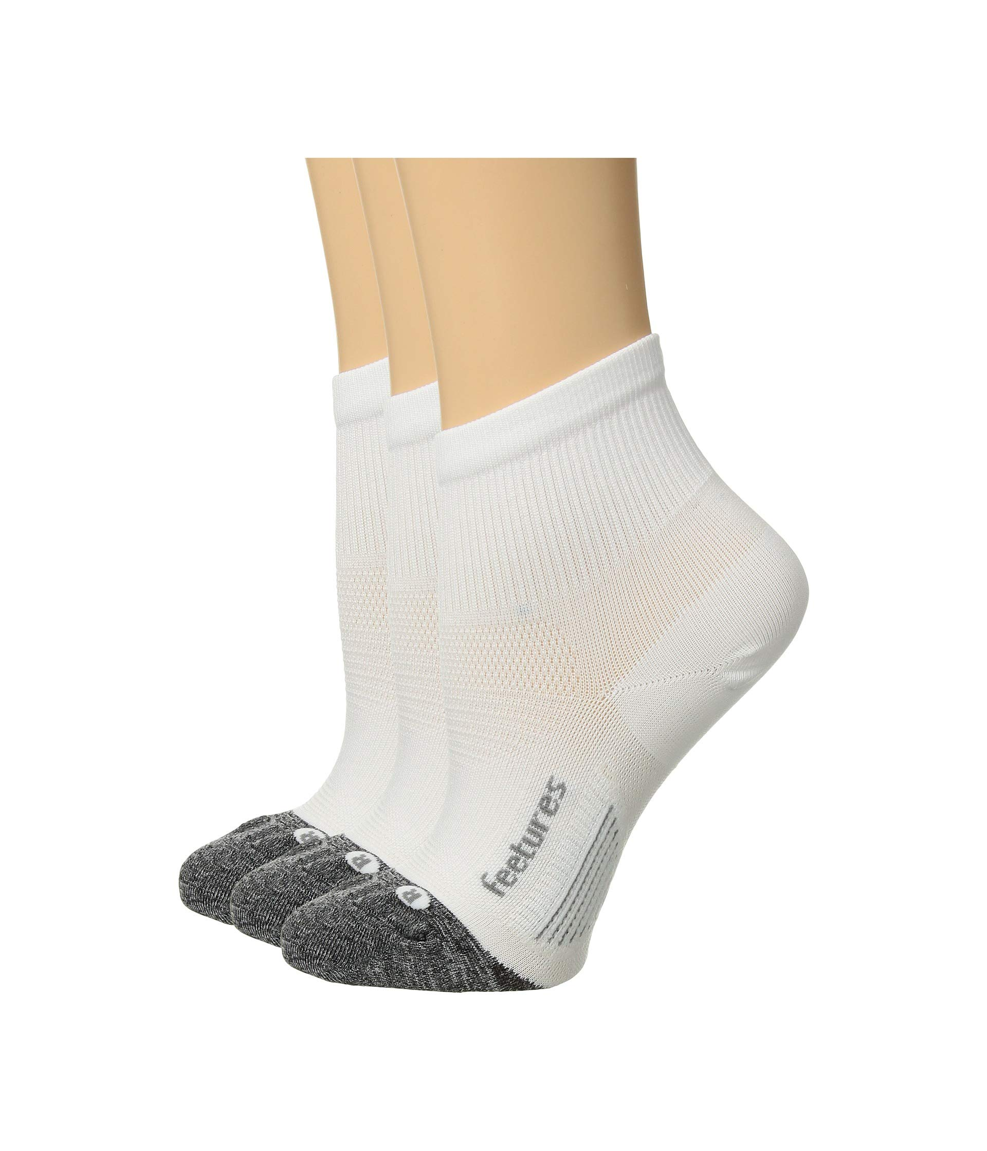 Elite Quarter Ultra Light White Feetures Pack pair 3 dCqOwMxSt