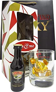 Whisky Liqueurs - Baileys Irish Cream, Glass & Chocolates Gift Set (Hard To Find Whisky Edition) - Whisky