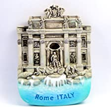 Souvenir Collectibles Fridge Magnet Magnetic Cute Charm Gift Trevi Fountain Rome Italy Hand Sculpting and Hand Painting 3d