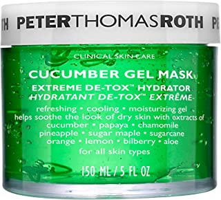 Peter Thomas Roth Cucumber Gel Mask Extreme De-Tox Hydrator, Cooling and Hydrating Facial Mask, Helps Soothe the Look of D...