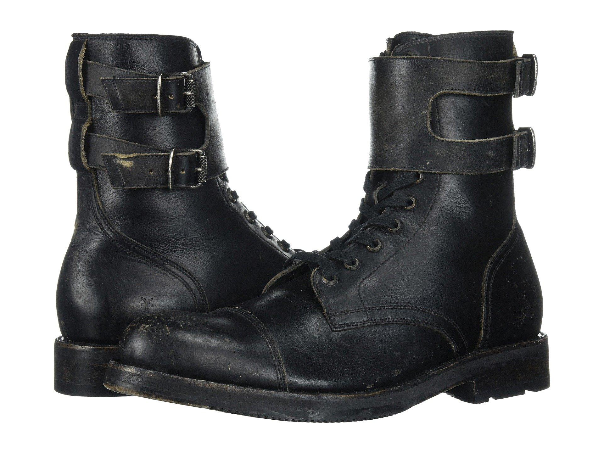 Frye  Officer Cuff Boot, BLACK STONEWASH