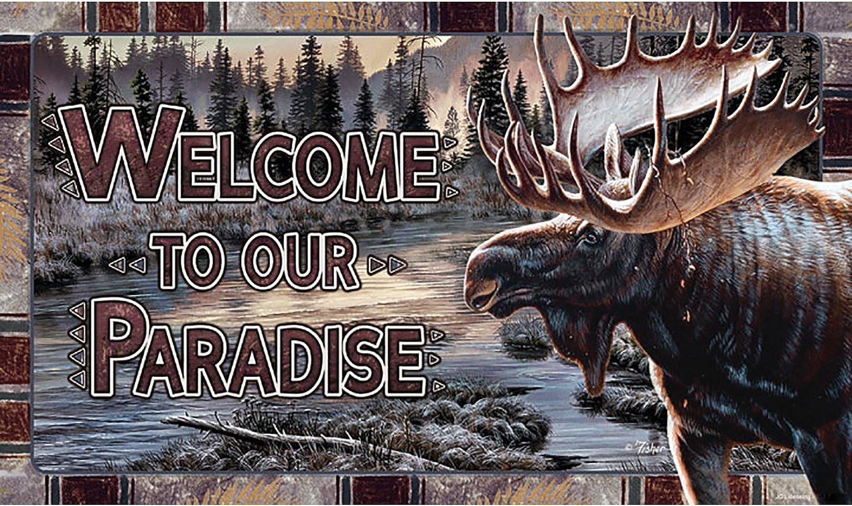 Rivers Edge Products Moose Welcome Door Mat