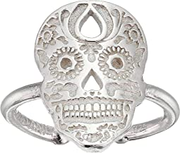 Calavera Statement Adjustable Ring - Precious Metal