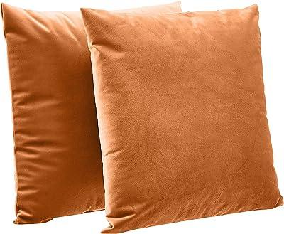 Gokruati 2Pcs Kissenbezüge,Dekorative Sofa Quadratische Outdoor Stühle Kissenbezüge Hautfreundliche Stoff Kissenbezüge für Couch Schlafsofa Terrakotta Orange 45*45cm