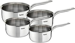 Tefal Intuition INOX Induction Batterie de Cuisine 4 casseroles 14/16/18/20 cmA702S414, Acier Inoxydable, 40,5 x 29 x 17,5