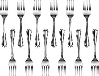New Star Foodservice 58062 Slimline Pattern, Stainless Steel, Salad Fork, 6.25-Inch, Set of 12