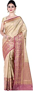 Chandrakala Women's Kataan Silk Blend Indian Ethnic Banarasi Saree with Unstitched Blousepiece(1293)