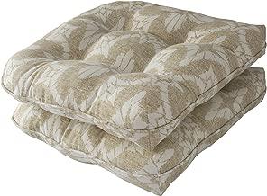 Downluxe Indoor/Outdoor Wicker Seat Cushions, 2 Pieces