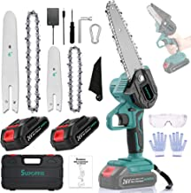 Sponsored Ad – Mini Chainsaw SUPOFFIS Portable Cordless 6-inch and 4-inch 26v 2-in-1 Combination Electric Chainsaw Set for...