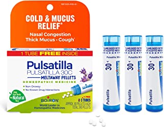 Boiron Pulsatilla 30c Homeopathic Medicine for Cold and Mucus Relief, 3 Tubes