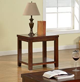 Furniture of America Torrence Transitional End Table, Dark Cherry