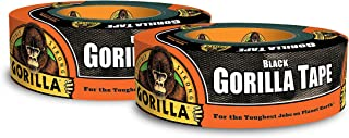 """Gorilla 6003514 Duct Tape, 1.88"""" x 35 yd, Black, (Pack of 2)"""
