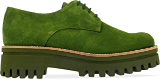 PALOMA BARCELÓ Luxury Fashion Womens AMAGREEN Green Lace-Up Shoes | Fall Winter 19