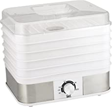 Haus HFD 44220 W Professional Electric Multi-Tier Food Dehydrator Dishwasher Safe Trays, 5, White