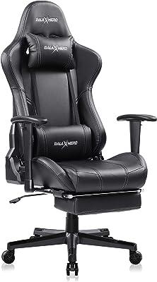 GALAXHERO ゲーミングチェア オットマン フィットレスト げーみんくチェア eスポーツ用椅子 リクライニング PUレザー ADJY611BL