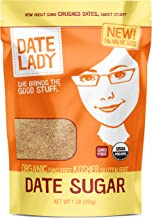 product image for Organic Date Sugar, 1 lb | 100% Whole Food | Vegan, Paleo, Gluten-free & Kosher | 100% Ground Dates | Sugar Substitute and Alternative Sweetener for Baking | Contains Fiber from the Date (1 Bag)
