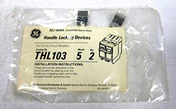 GE THL103 Non-Padlocking Handle Locking Device, for Use with THQL and THQB Frame Molded Case Circuit Breakers
