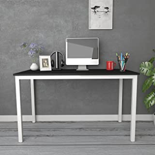 Need 55 inches Computer Desk Large Size Office Desk with BIFMA Certification Studio Desk Game Table, Black White AC3CW-140
