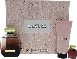 Nina Ricci Giftset L`Extase EDP Spray Plus EDP Spray Plus Body Lotion, 80 ml/5 ml/100 ml