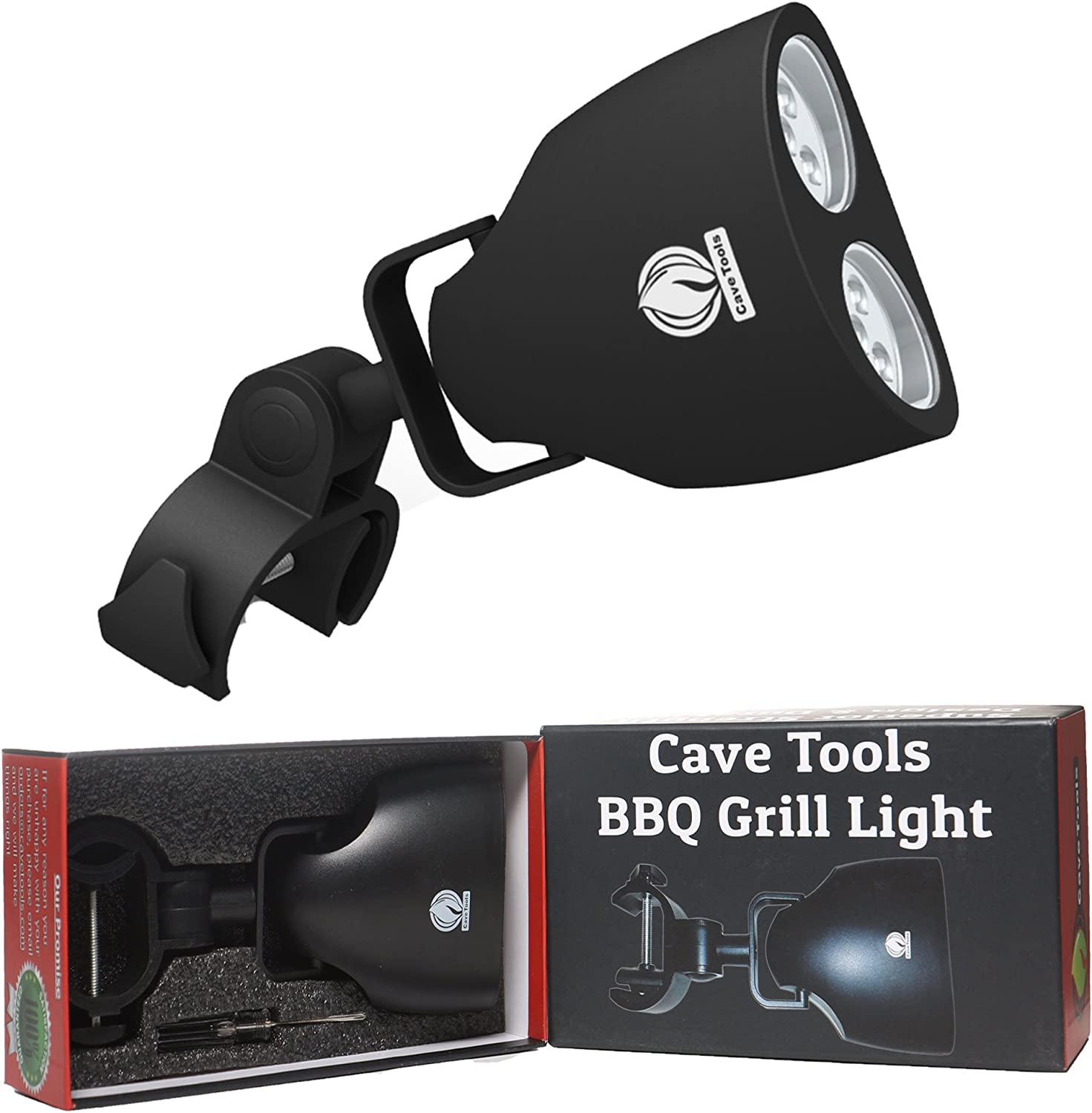 Cave Tools Barbecue Grill Light for Outdoor Grill - Fits Round & Square Bars on Any BBQ Pit - 10 LED for Grilling at Night - BBQ Grill and Smoker Accessories : Patio, Lawn & Garden