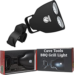 Cave Tools Barbecue Grill Light - Luxurious Gift Box - Upgraded Handle Mount Fits Round & Square Bars on Any BBQ Pit - 10 ...
