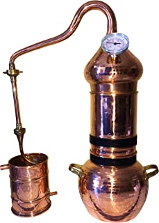 3L Premium Flip Top Column Alembic Whiskey Moonshine Still with Thermometer