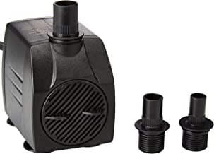 Instapark 400GPH UL Safety Certified Submersible Pump 25W 110V AC Fountain Water Pump with 5.9ft Power Cord, 3 Nozzles for Aquarium, Fish Tank, Pond, Statuary, Hydroponics