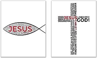 Jesus Fish–Sign of the Fish–Ichthys Prints–8x 10写真