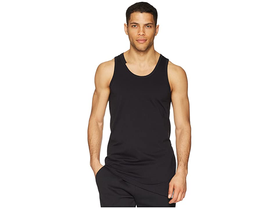 Image of adidas Y-3 by Yohji Yamamoto 3-Stripes Tank Top (Black/Core White) Men's Sleeveless