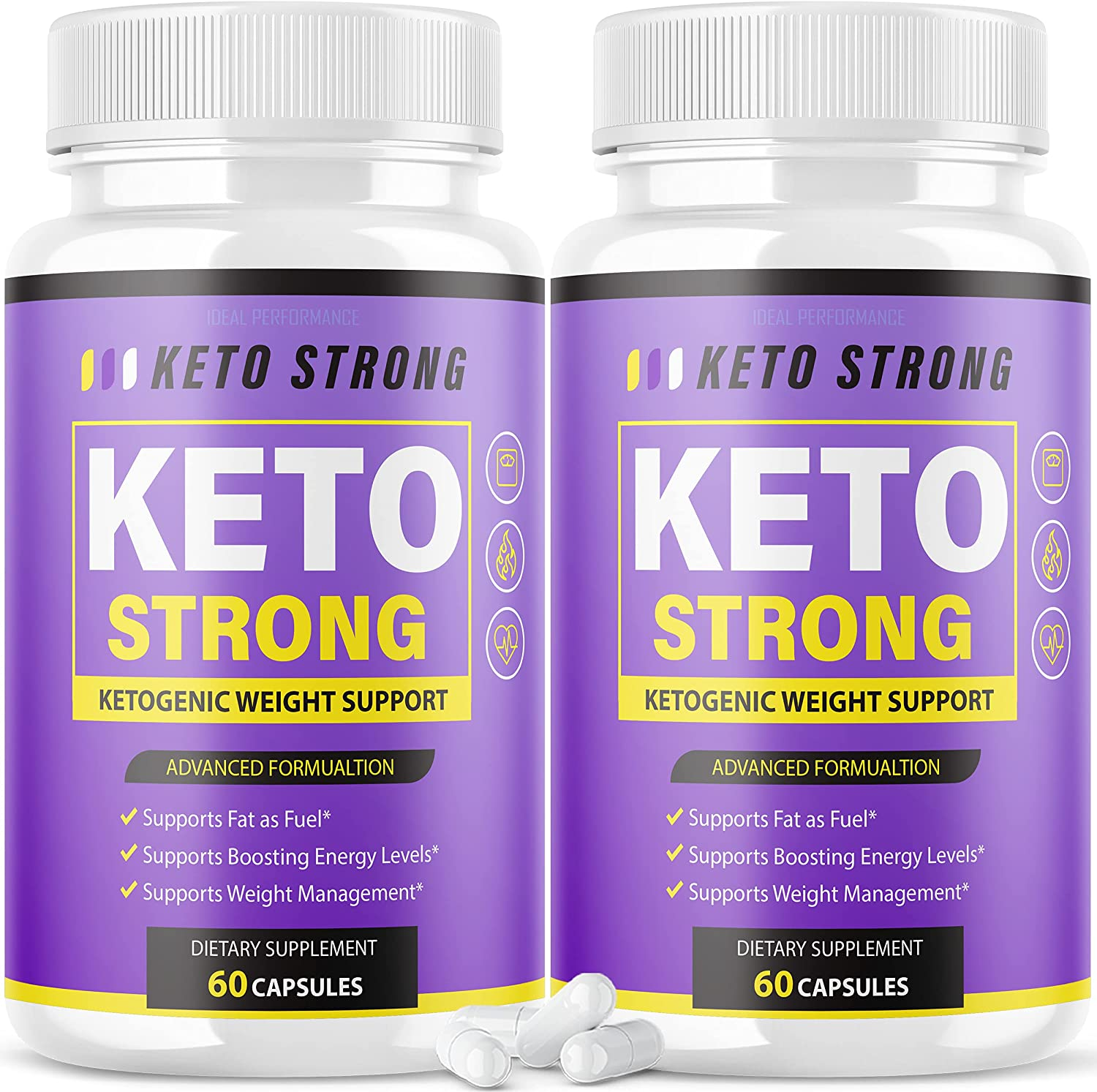 Complete Free Shipping 2 Pack Keto Strong Pills Advanced Ketogenic Ketones 120 Low price C BHB