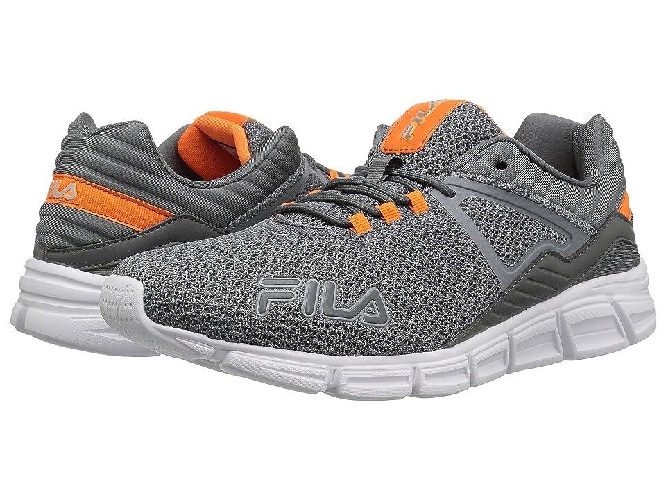 Fila Cambino Running (Castlerock/Vibrant Orange/Metallic Silver) Men