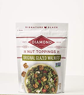 Diamond of California Original Glazed Walnuts + Nut Toppings, 7.5 Ounce (Pack of 12)