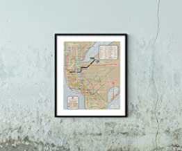 Map|New York City Transit s, NYC World's Fair Subway 1964 Transit/RR|Vintage Fine Art Reproduction|Size: 20x24|Ready to Frame