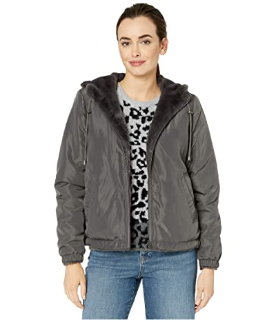 Dylan by True Grit Solid Faux Fur Love Reversible Jacket with Matching Lining (Vintage Black) Women